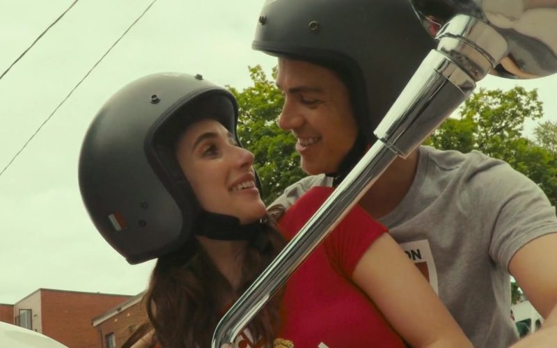 Vespa Helmets Worn by Emma Roberts and Hayden Christensen in Little Italy (7)