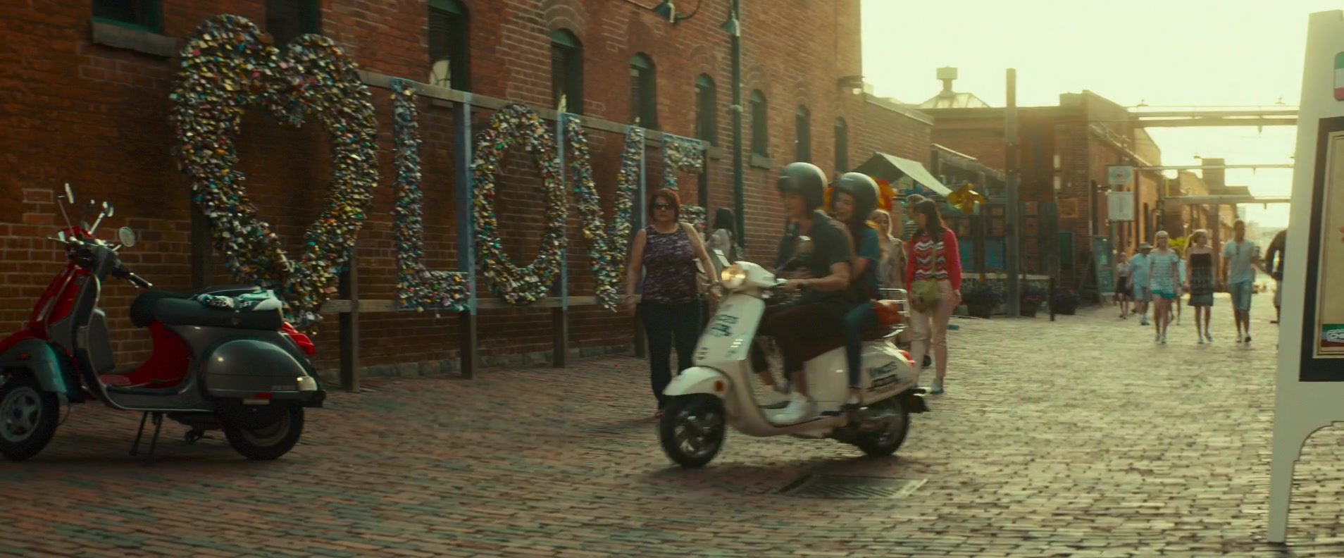 Vespa Scooter In Little Italy 2018 Movie