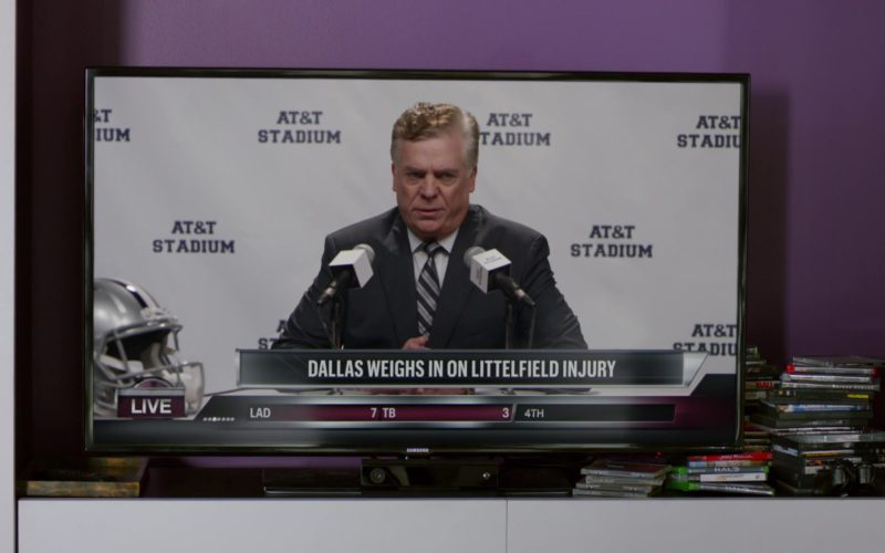 AT&T Stadium and Samsung TV in Ballers (1)
