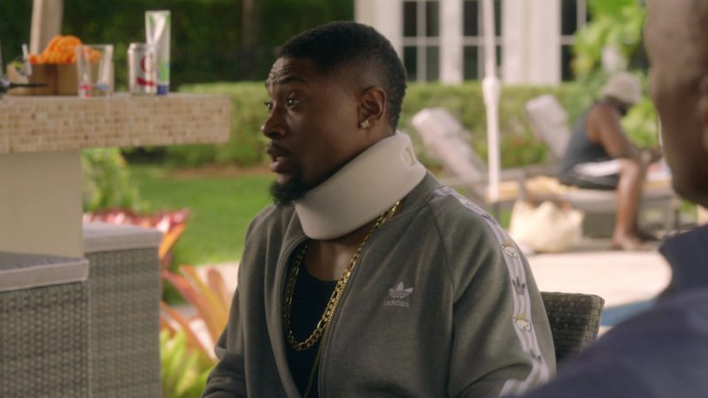 """Adidas Jacket Worn by London Brown (Reggie) in Ballers: Season 1, Episode 4, """"Heads Will Roll"""" (2015) - TV Show Product Placement"""