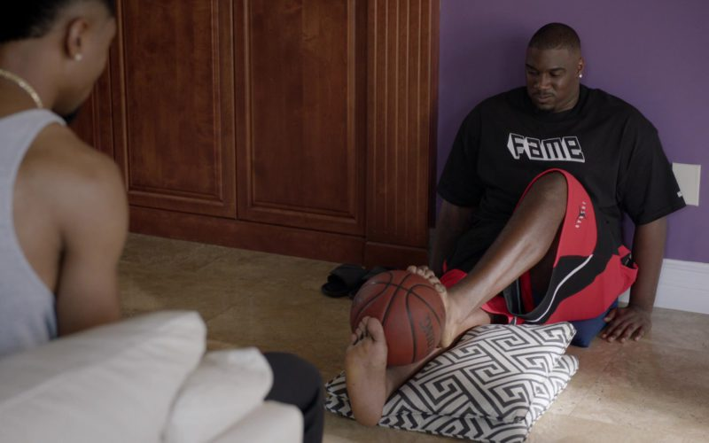 Air Jordan Shorts and Spalding Basketball Used by Donovan Carter in Ballers (1)