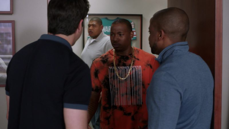 """Alexander Wang Orange T-Shirt in Ballers: Season 3, Episode 6, """"I Hate New York"""" (2017) - TV Show Product Placement"""