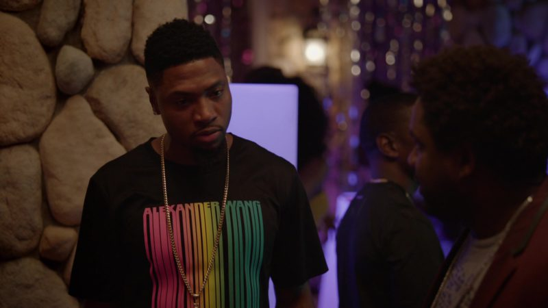 """Alexander Wang T-Shirt Worn by London Brown (Reggie) in Ballers: Season 2, Episode 1, """"Face of the Franchise"""" (2016) - TV Show Product Placement"""