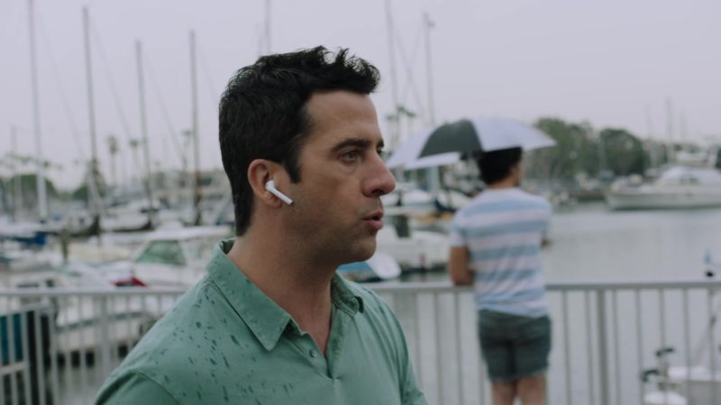 """Apple AirPods Wireless Headphones Used by Troy Garity in Ballers: Season 4, Episode 1, """"Rough Ride"""" (2018) - TV Show Product Placement"""