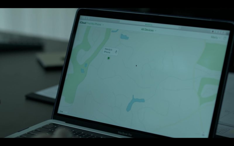 Apple MacBook Pro Laptop and Find My iPhone Application Used by Jason Bateman in Ozark (1)