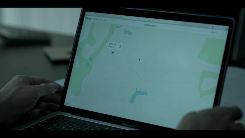 "Apple MacBook Pro Laptop and Find My iPhone Application Used by Jason Bateman in Ozark: Season 2, Episode 7, ""One Way Out"" (2018) TV Show Product Placement"