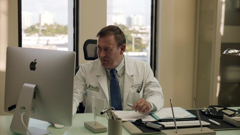 """Apple iMac Computer Used by Doctor in Ballers: Season 1, Episode 4, """"Heads Will Roll"""" (2015) - TV Show Product Placement"""