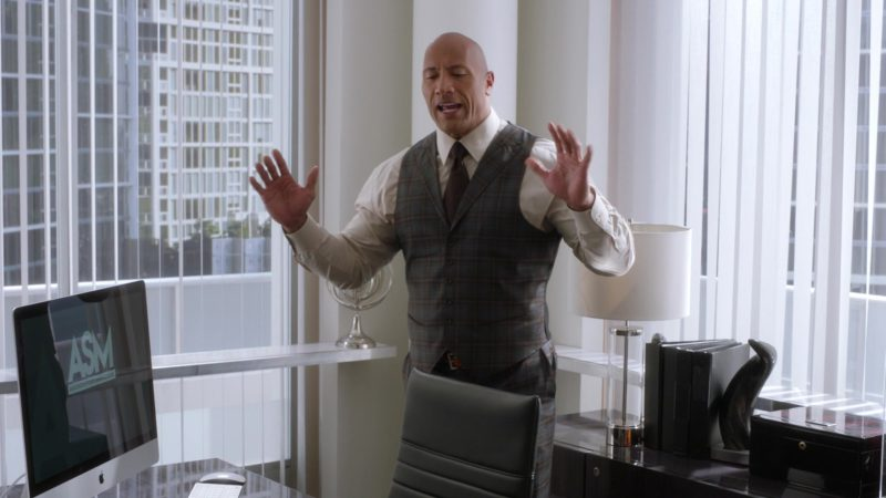 """Apple iMac Computer Used by Dwayne Johnson in Ballers: Season 3, Episode 5, """"Make Believe"""" (2017) - TV Show Product Placement"""