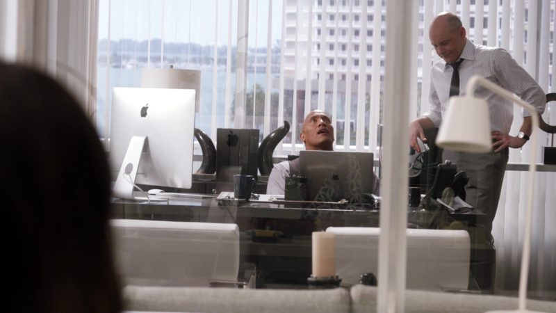 """Apple iMac Computer and MacBook Pro 15-inch Notebook Used by Dwayne Johnson in Ballers: Season 3, Episode 1, """"Seeds of Expansion"""" (2017) - TV Show Product Placement"""