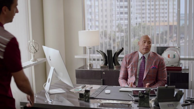 """Apple iMac and Cisco Phone Used by Dwayne Johnson in Ballers: Season 2, Episode 5, """"Most Guys"""" (2016) TV Show Product Placement"""