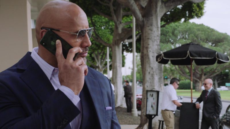 """Apple iPhone Used by Dwayne Johnson (Spencer Strasmore) in Ballers: Season 4, Episode 1, """"Rough Ride"""" (2018) TV Show Product Placement"""