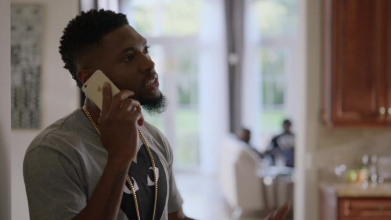 """Apple iPhone Used by John David Washington (Ricky) in Ballers: Season 2, Episode 4, """"World of Hurt"""" (2016) TV Show Product Placement"""