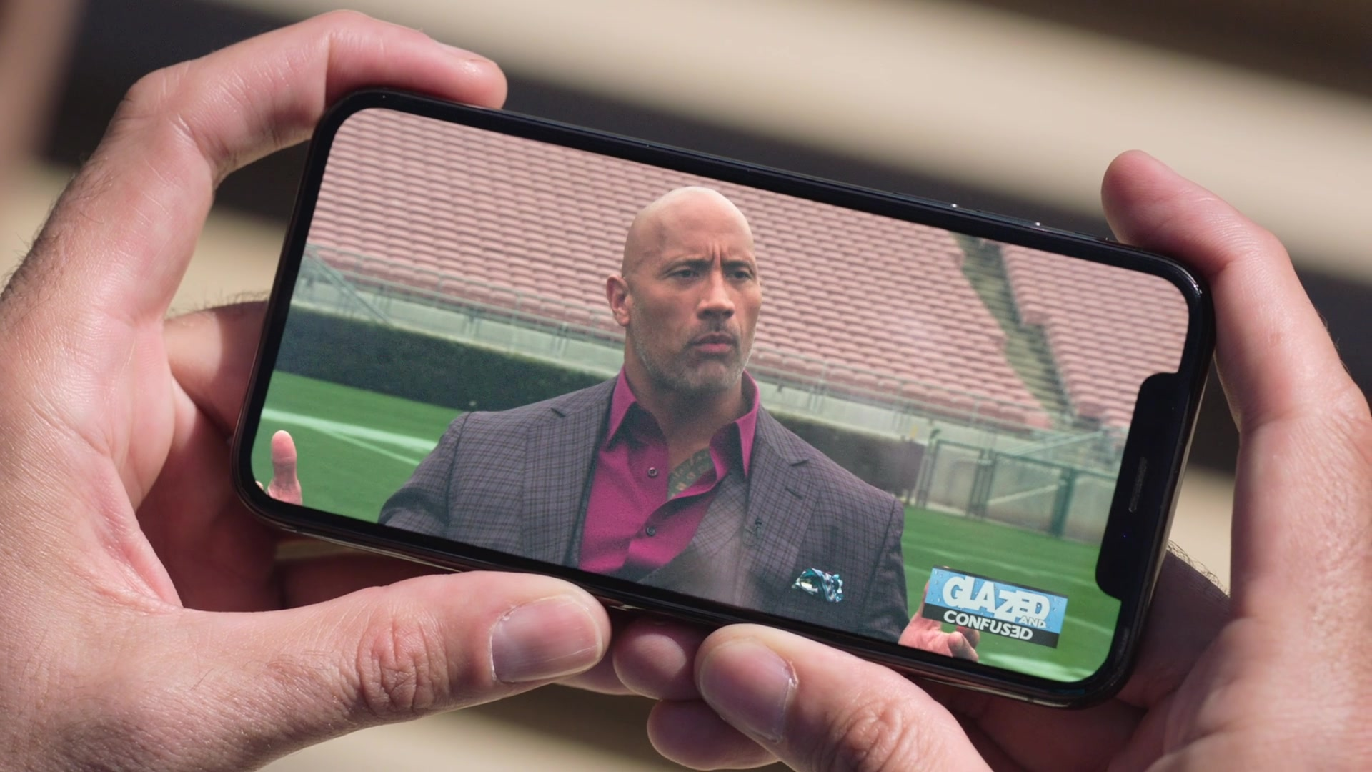 apple iphone x used by troy garity jason in ballers season 4