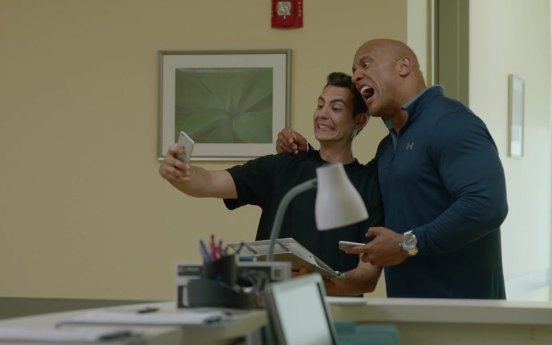 Apple iPhone and Under Armour Shirt Worn by Dwayne Johnson (Spencer Strasmore) in Ballers
