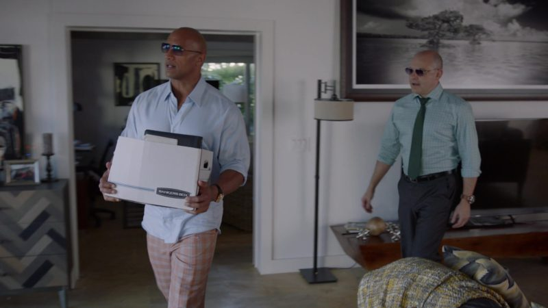 """Bankers Box Held by Dwayne Johnson in Ballers: Season 2, Episode 8, """"Laying in the Weeds"""" (2016) TV Show Product Placement"""
