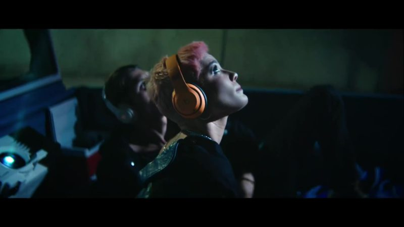 Beats Orange Headphones Worn by Halsey in Without Me (2018) - Official Music Video Product Placement