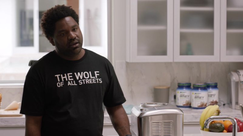 "Brooklyn Projects ""The Wolf Of All Streets"" T-Shirt in Ballers: Season 3, Episode 9, ""Crackback"" (2017) - TV Show Product Placement"