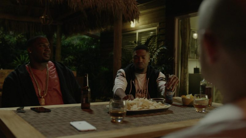 """Bud Light Beer Drunk by London Brown (Reggie) in Ballers: Season 1, Episode 6, """"Everything Is Everything"""" (2015) - TV Show Product Placement"""