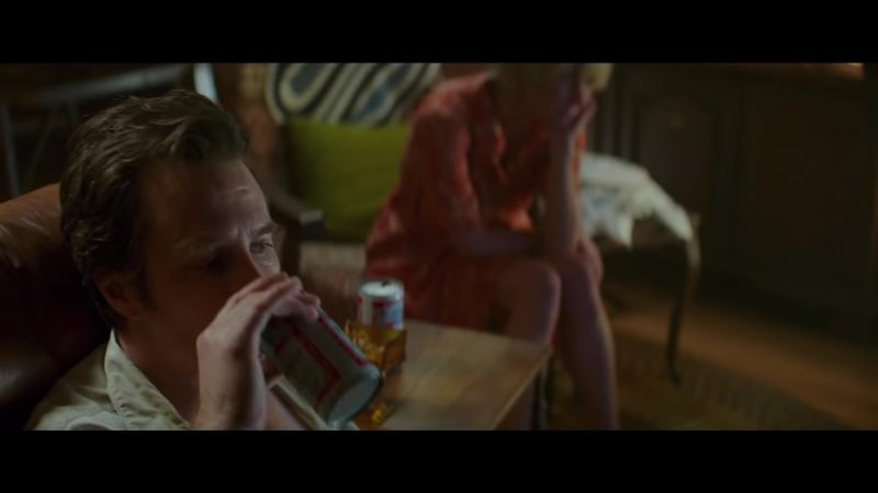 Budweiser Beer Enjoyed by Sam Rockwell in The Best of Enemies (2019) - Movie Product Placement