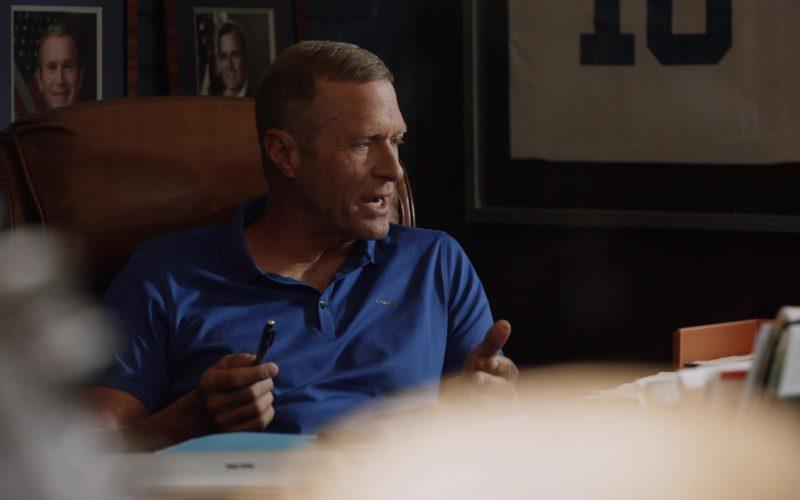 Calvin Klein Blue Polo Shirt For Men in Ballers