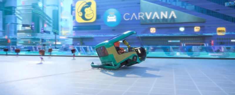 Carvana and IMDB in Ralph Breaks the Internet (2018) - Animation Movie Product Placement