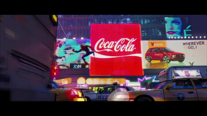 Coca-Cola in Spider-Man: Into the Spider-Verse (2018) - Animation Movie Product Placement