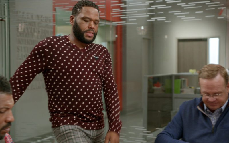 Comme des Garçons Play Polka Dot Burgundy Sweatshirt Worn by Anthony Anderson (1)