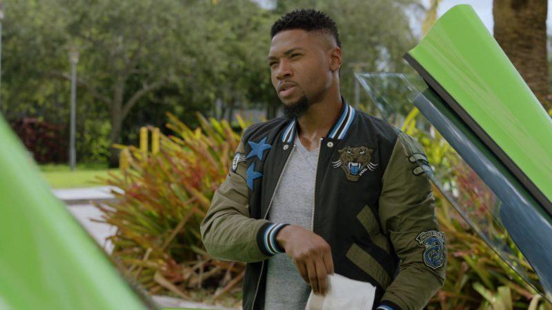 "Diesel Bomber Jacket Worn by London Brown (Reggie) in Ballers: Season 2, Episode 3, ""Elidee"" (2016) - TV Show Product Placement"