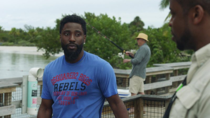 """Dsquared2 Bros 'Rebels' T-Shirt Worn by John David Washington (Ricky) in Ballers: Season 1, Episode 6, """"Everything Is Everything"""" (2015) - TV Show Product Placement"""