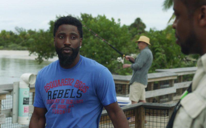 Dsquared2 Bros 'Rebels' T-Shirt Worn by John David Washington (Ricky) in Ballers (8)
