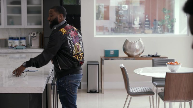 """Dsquared2 Men's Bomber Jacket  Worn by John David Washington in Ballers: Season 3, Episode 10, """"Yay Area"""" (2017) - TV Show Product Placement"""
