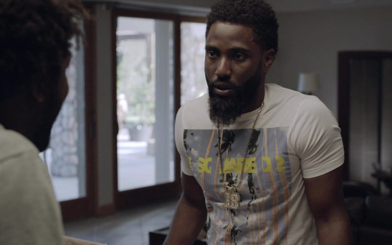 Dsquared2 T-Shirt Worn by John David Washington (Ricky) in Ballers (1)