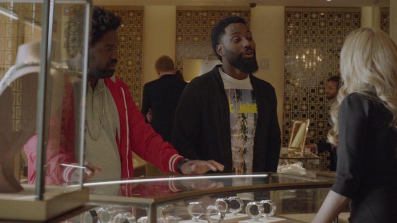 "Dsquared2 T-Shirt Worn by John David Washington (Ricky) in Ballers: Season 1, Episode 8, ""Gaslighting"" (2015) TV Show Product Placement"