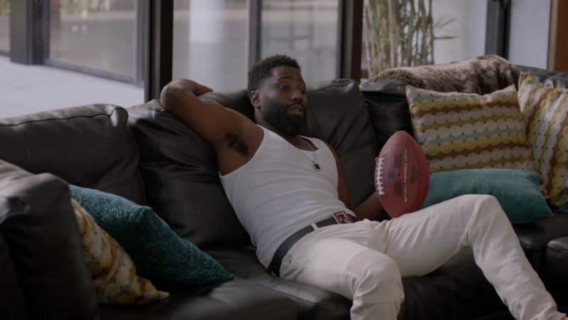 """Fendi Men's Belt Worn by John David Washington (Ricky) in Ballers: Season 2, Episode 7, """"Everybody Knows"""" (2016) - TV Show Product Placement"""
