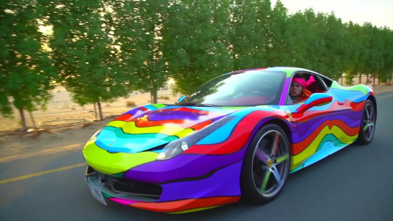 ferrari sports car in stoopid by 6ix9ine feat bobby. Black Bedroom Furniture Sets. Home Design Ideas