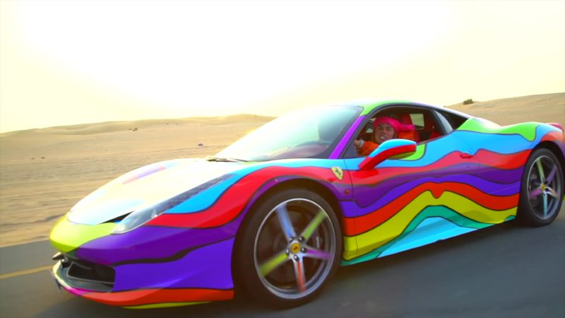 Ferrari Sports Car In Quot Stoopid Quot By 6ix9ine Feat Bobby
