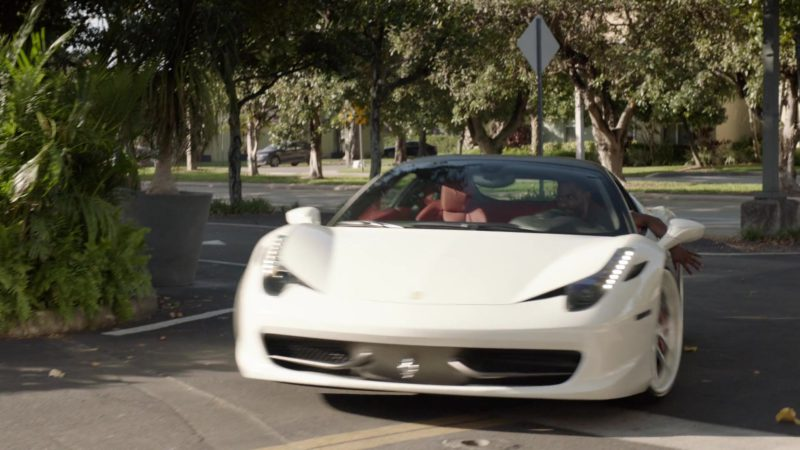 """Ferrari White Sports Car Used by John David Washington (Ricky) in Ballers: Season 1, Episode 2, """"Raise Up"""" (2015) - TV Show Product Placement"""