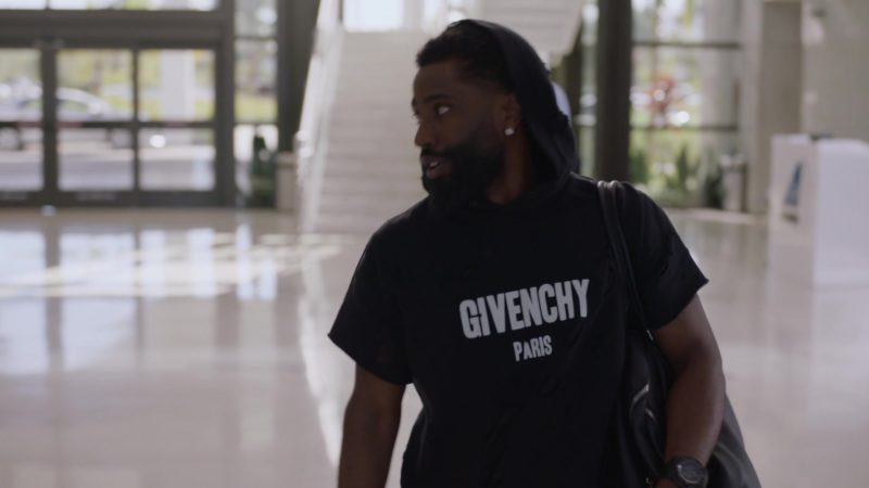 "Givenchy Hoodie With Short Sleeves Worn by John David Washington (Ricky) in Ballers: Season 2, Episode 3, ""Elidee"" (2016) - TV Show Product Placement"