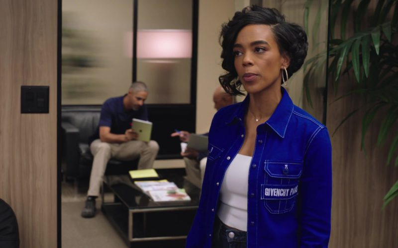 Givenchy Paris Blue Shirt Worn by Jazmyn Simon in Ballers (1)