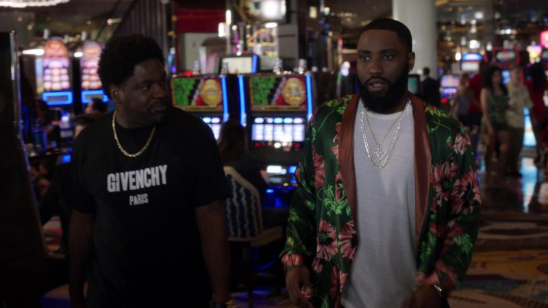 "Givenchy Paris T-Shirt For Men in Ballers: Season 3, Episode 2, ""Bull Rush"" (2017) TV Show Product Placement"