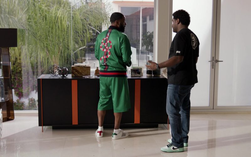 Gucci Green Jacket and Shorts and White Shoes Worn by John David Washington in Ballers (1)