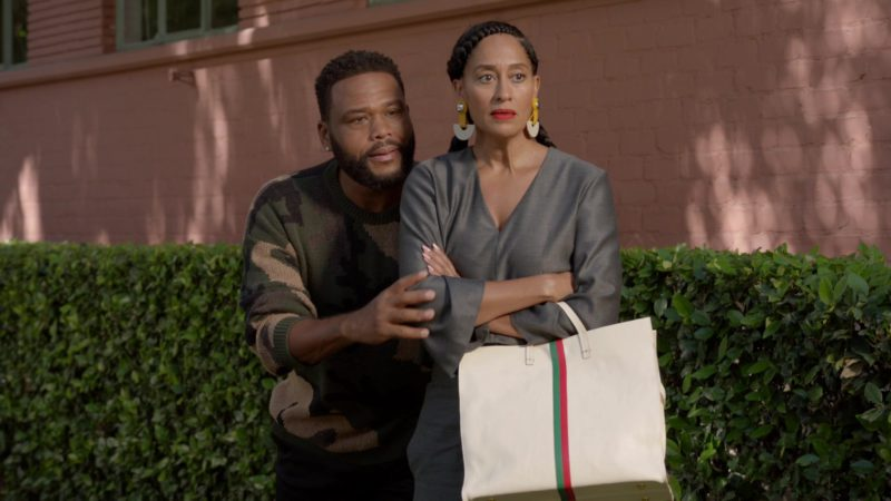 "Gucci Handbag Used by Tracee Ellis Ross (Rainbow Johnson) in Black-ish Season 5 Episode 03 ""Scarred for Life"" (2018) - TV Show Product Placement"