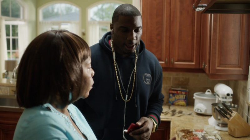 """Gucci Hoodie Worn by Donovan Carter (Vernon) in Ballers: Season 1, Episode 1, """"Pilot"""" (2015) - TV Show Product Placement"""