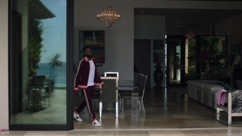 "Gucci Tracksuit and Shoes Worn by John David Washington (Ricky) in Ballers: Season 4, Episode 8, ""The Devil You Know"" (2018) TV Show Product Placement"