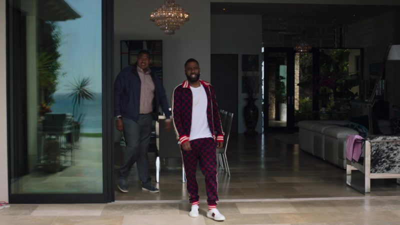 """Gucci Tracksuit and Shoes Worn by John David Washington (Ricky) in Ballers: Season 4, Episode 8, """"The Devil You Know"""" (2018) - TV Show Product Placement"""