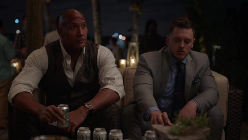 "Heineken Beer Drunk by Dwayne Johnson in Ballers: Season 2, Episode 8, ""Laying in the Weeds"" (2016) - TV Show Product Placement"