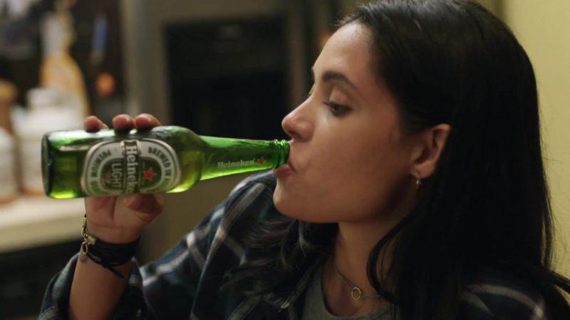 """Heineken Beer Drunk by Otmara Marrero in StartUp: Season 1, Episode 8, """"Pro Rata"""" (2016) TV Show Product Placement"""