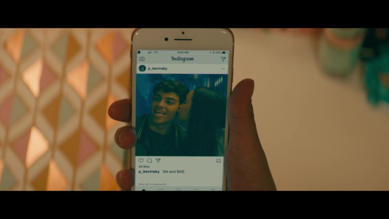 Instagram in To All the Boys I've Loved Before (2018) Movie Product Placement