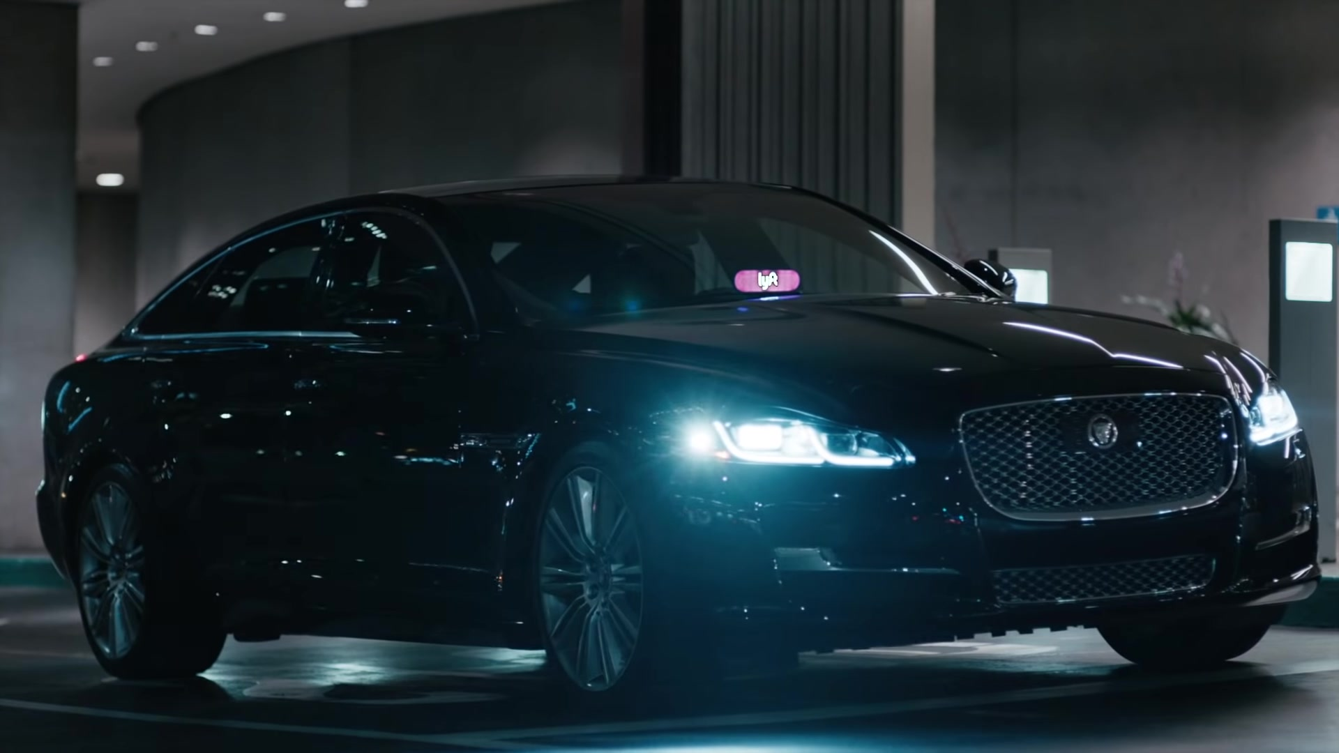 Jaguar Car And Lyft Taxi Service Sign In Lost In Japan By