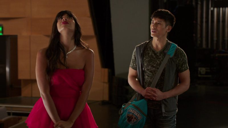 "Jacksonville Jaguars Bag Used by Manny Jacinto in The Good Place: Season 3, Episode 5, ""The Ballad of Donkey Doug"" (2018) TV Show Product Placement"